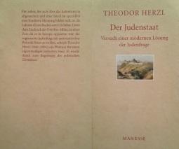 """""""Der Judenstaat"""", von Theodor (Benjamin Zeev) Herzl."""