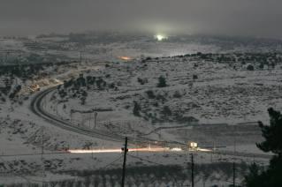 Shiloh-Kreuzung im Nachtlicht. Foto: M.F. Bunimovich