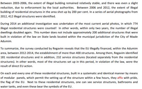 Quelle: Regavim-Bericht