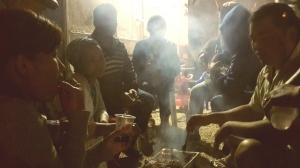 Besondere Atmosphäre. Beim Grill der Familie von Gadi und Ateret im Karavanenviertel.