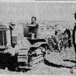 Der erste Traktor in den Judäischen Bergen