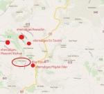 Gush Etzion - die Lage der Kibbutzim
