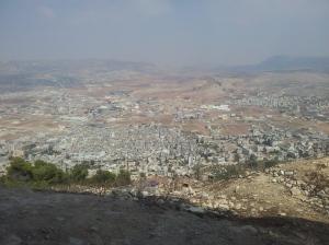 Sicht auf Shchem (Nablus), zentraler Teil.
