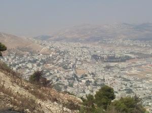 Sicht auf Shchem (Nablus), Nordteil.