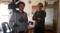 Das Kamerateam des Tacheles-Projekts bei mir zu Hause