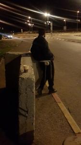 Anhaltefahrer in Gush Etzion