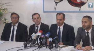 Rechtsabwälte Itamar Ben Gvir (links), Adi Keidar (2 v.l.) und weitere. Quelle: Honenu