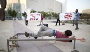 Protest gegen die Folter. Tel Aviv (Quelle: Ha'aretz)