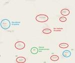 Arabische und jüdische Ortschaften. Karte 2