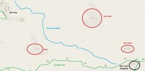 Verlauf des Wadis. Karte 3