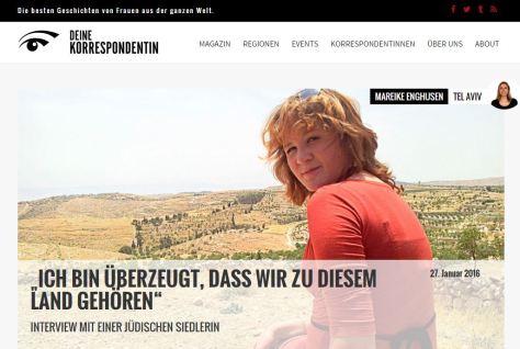 Interview auf deine-korrespondentin.de, 27.01.16