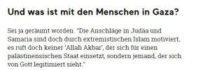 """Tja, was ist mit ihnen? Ich weiß es nicht, aber wenigestens haben sie mein """"Allahu Akbar"""" gelassen."""