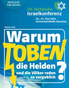 """""""Warum toben die Heiden?"""" (Psalm 2,1) Logo der Israelkonferenz. Wer wissen will, warum sie toben - einfach Psalm durchlesen."""
