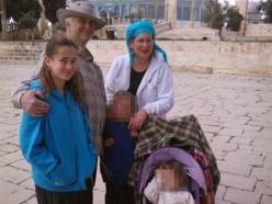 Hallel mit ihren Eltern Amichai und Rina und mit juengeren Geschwistern bei einem Besuch auf dem Tempelberg. Quelle: Nana