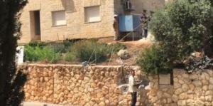 Bauarbeiten am Haus. Quelle: My Israel (FB)