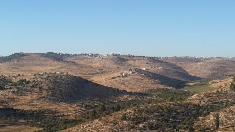 Die Judäischen Berge. Sicht aus Otniel.