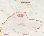 Bethlehem auf der Karte. Eine Stadt mit rund 30.000 Einwohnern (Quelle: offizielle Seite der Stadtverwaltung. Unklar, ob auch die Außenregionen wie Elkhadr und Beyt Sahur dazugehören).