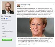 MdB Dr.Feist und sein Kommentar. 16.08.16