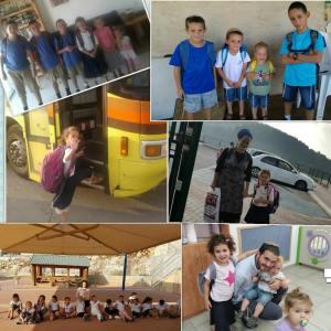 Szenen aus dem Schulbeginn. Foto: Regionalverwaltung Samaria