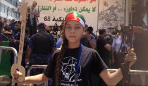 Nationalbewusst, kriegerisch, genau, wie man palästinensische Kinder offenbar sehen sollte. Janna Jihad Ayyad Tamimi. Quelle: Periodico ABC
