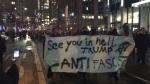 """""""Wir sehen uns in der Hölle, Trump, ANTI Faschist"""" Quelle: Ynet"""
