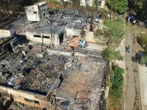 Neve Tzuf, nach dem Brand. Quelle: Ma'ariv