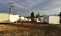 Die Notunterkuenfte in Neve Tzuf (Halamish). Foto: INN