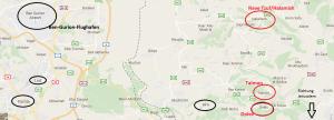 Talmon, Dolev, Halamish/Neve Tzuf - und der Flughafen